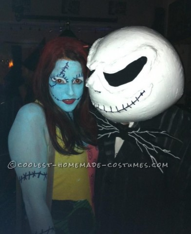 Homemade Jack and Sally Halloween Couple Costume