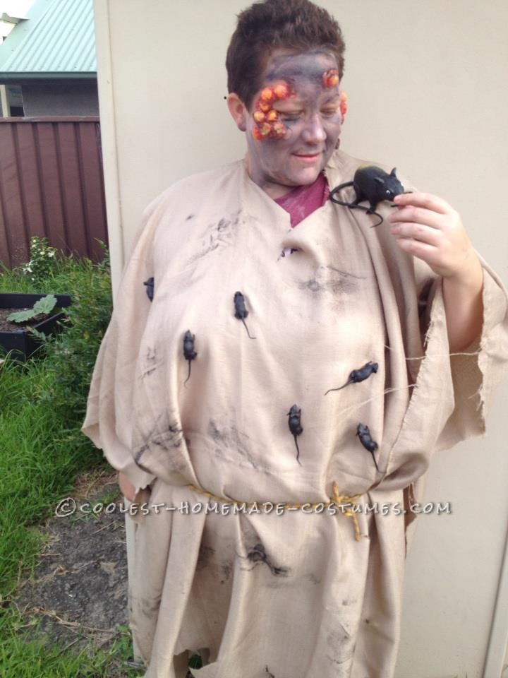 Interactive Medieval Costume with Boils and Plastic Rats