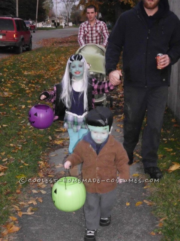 Coolest Last-Minute (Milk Gallon Jug Head) Frankenstein Costume