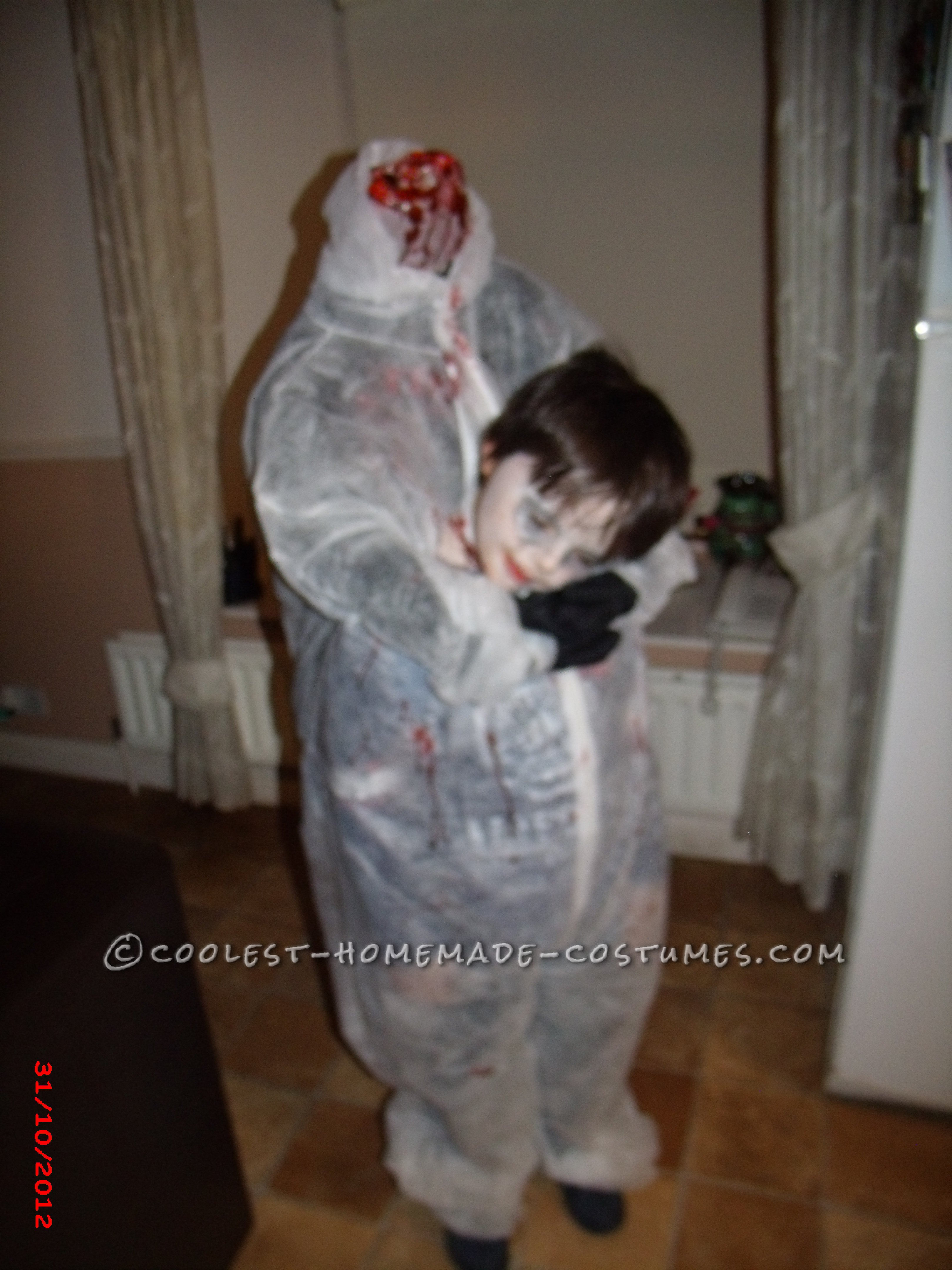 Last-Minute Headless Child Costume