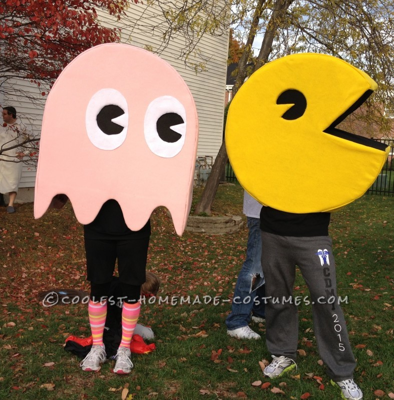 Quick and Easy Pac-Man and Pinkie Couple's Costume