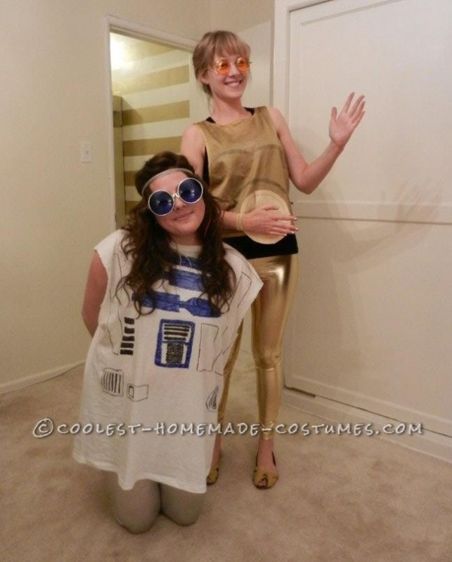Easy R2D2 and C3PO Couple Costume Made of Scrap Clothing