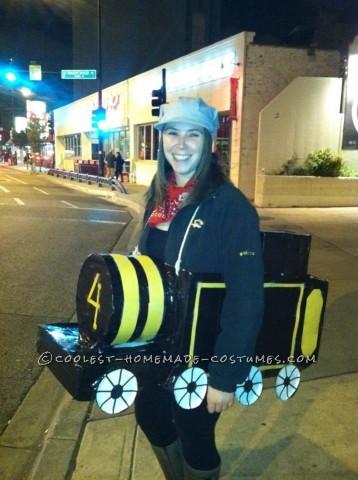 "Cute ""Ride the Rails"" Adult Train Costume"