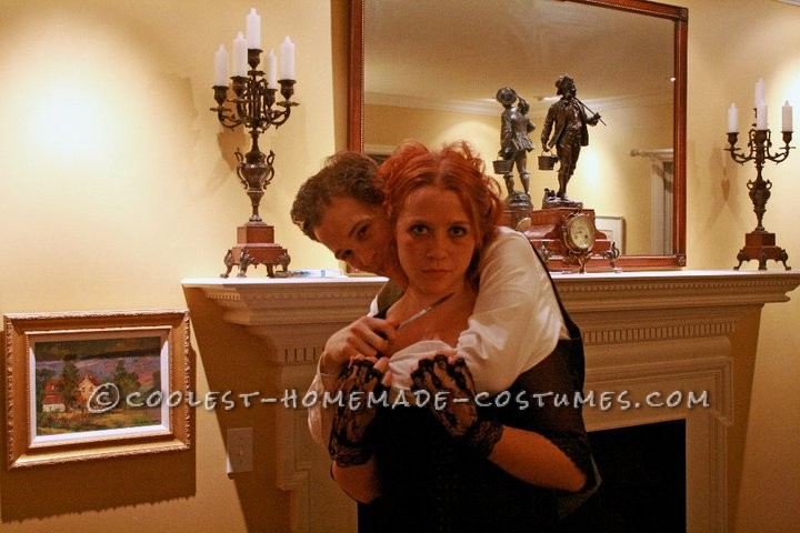 Coolest Homemade Sweeney Todd and Mrs. Lovett Couple Halloween Costume