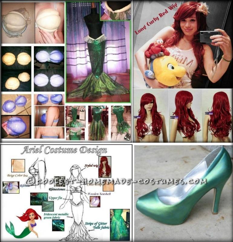 Coolest Ariel the Little Mermaid Halloween Costume - 3