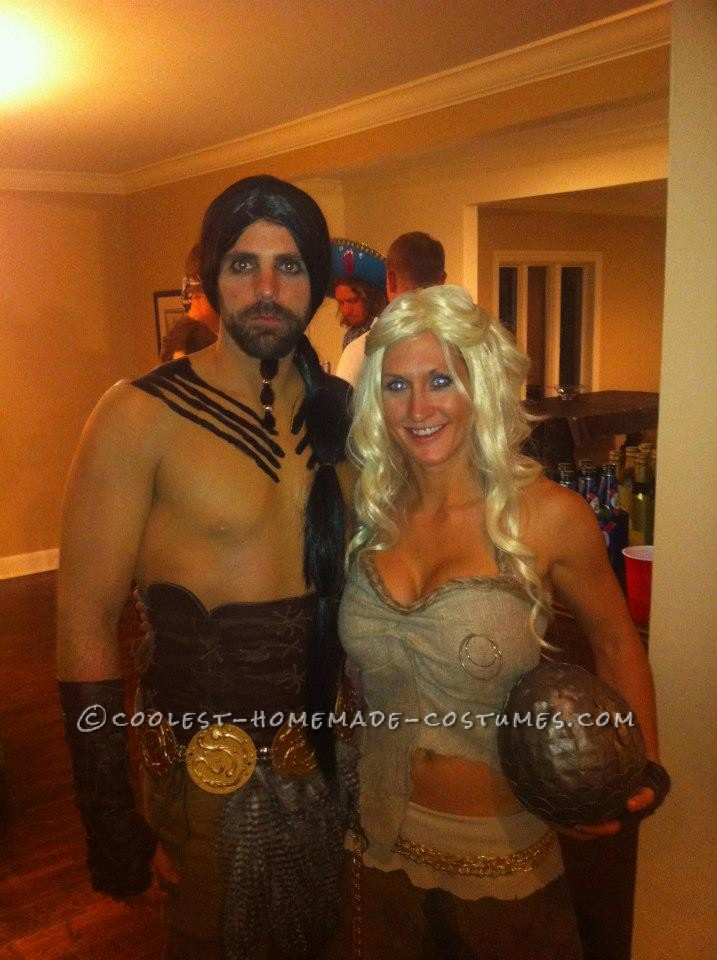 Awesome Couples Halloween Costume: Daenerys Targaryen and Khal Drogo