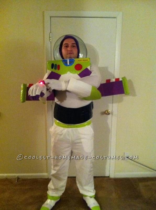 Homemade Buzz Lightyear Halloween Costume - 5