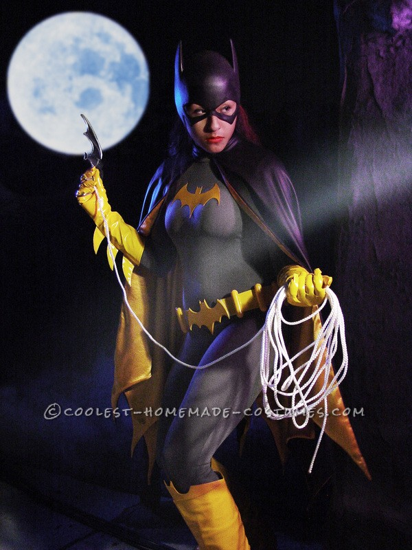 Custom Made Batgirl Costume modelled by 16 year old Drama Student