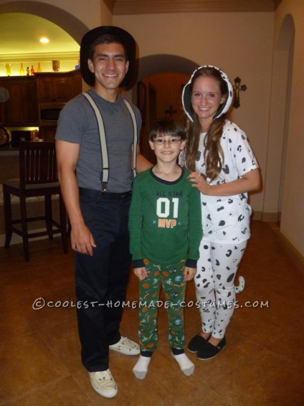 Cute Firefighter and Dalmatian Halloween Couples Costume - 2