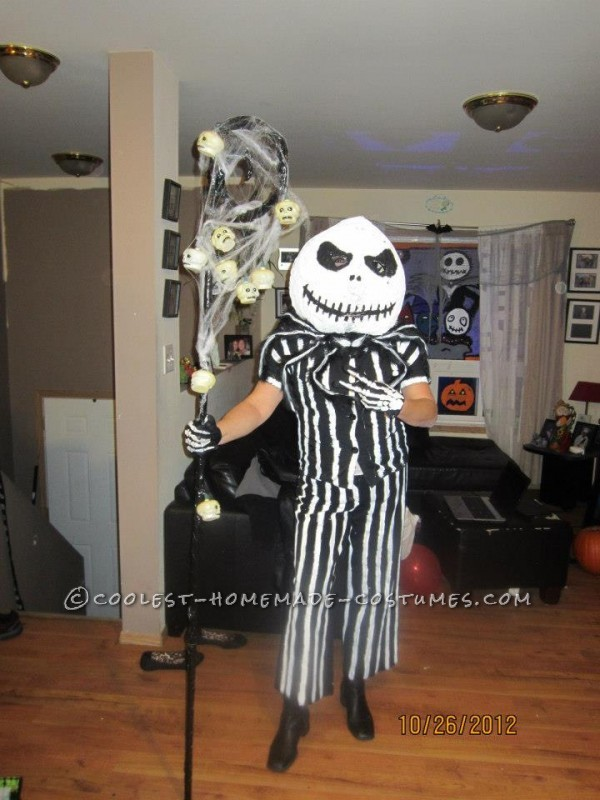 Homemade Jack Skellington and Sally Halloween Couples Costume - 2