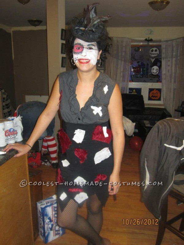 Homemade Jack Skellington and Sally Halloween Couples Costume - 1