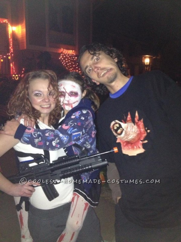 Ripley and Chest-Busting Alien Halloween Couples Costume