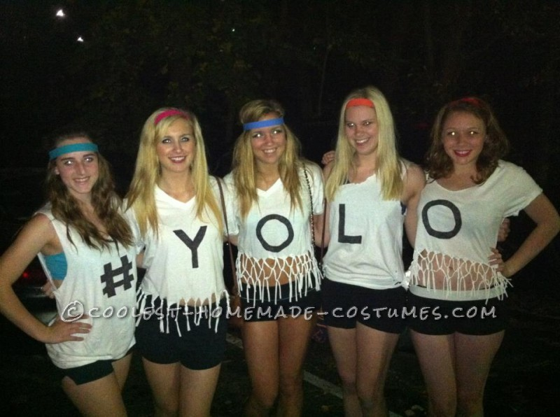 #YOLO Funny Girl Group Costume
