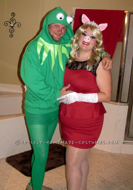 Easy Kermit and Miss Piggy Couple's Costume