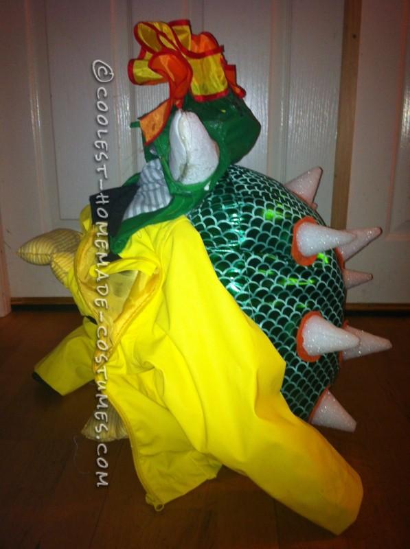 Homemade Kids Bowser Costume - 4