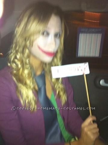 Last Minute Girls Joker Costume