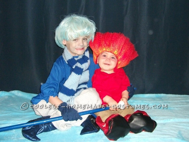 Cute Homemade Miser Brothers Christmas Costume