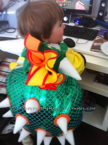 Homemade Kids Bowser Costume