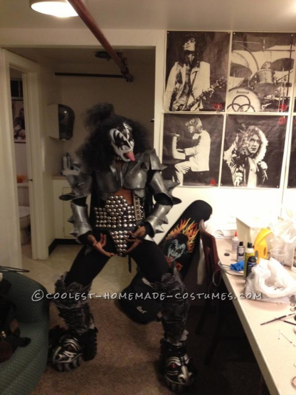 me as Gene Simmons 6/23/13 preparing to hit  the stage in my homemade Gene armor