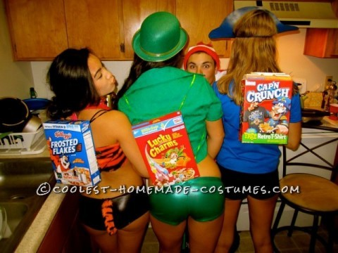 Sexy Cereal Box Characters Group Costume