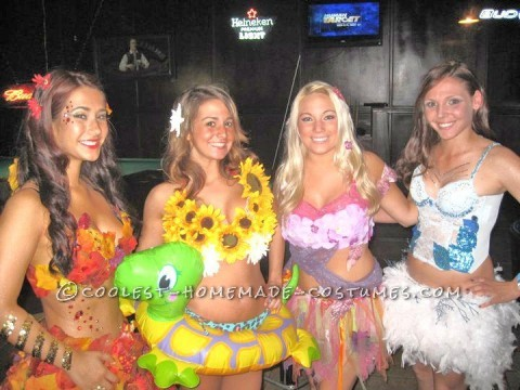 Four Seasons Girls Group Halloween Costume