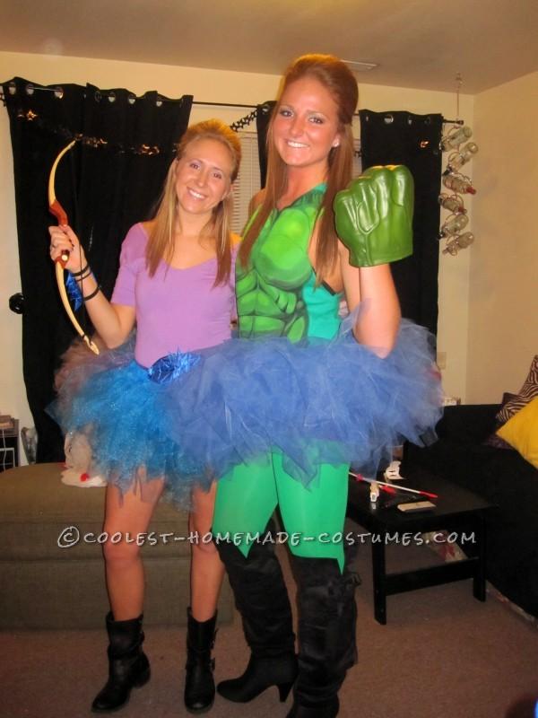 Homemade Avengers Girls Group Costume