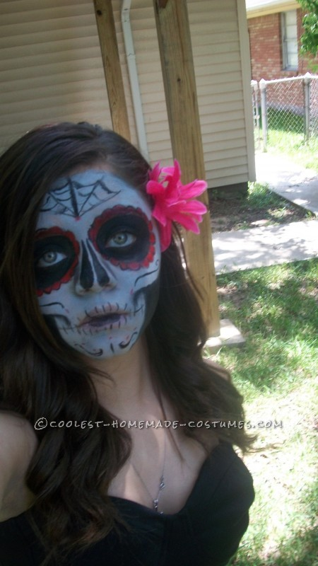 Boredom Kills – Homemade Girl Dia de los Muertos Halloween Costume - 2