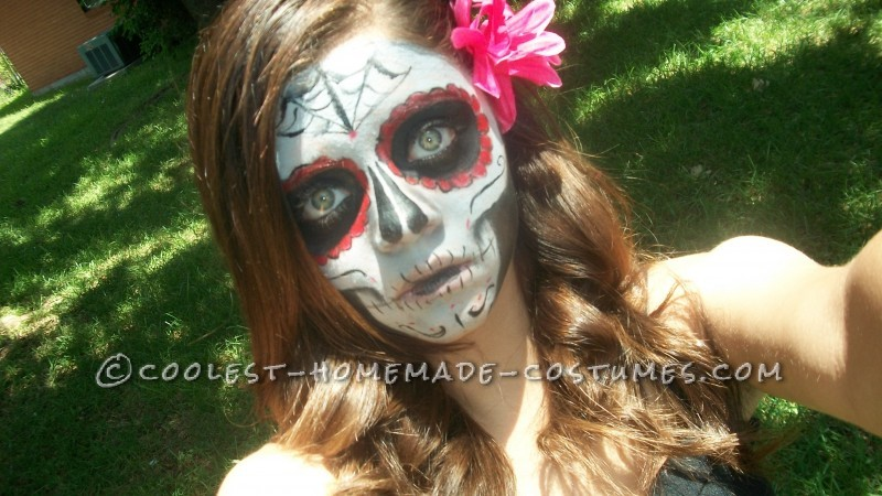 Boredom Kills - Homemade Girl Dia de los Muertos Halloween Costume
