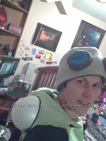 Homemade Gir From Invader Zim Costume With Giant Cupcake