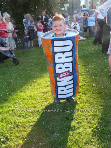 Homemade IRN BRU Can Costume