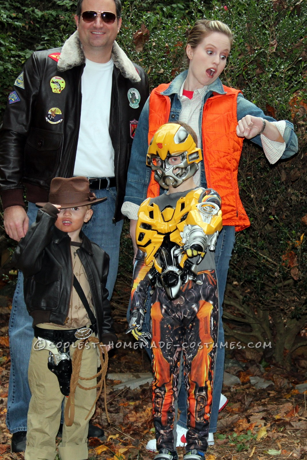 Coolest Homemade Family Costume 1980's Movie Characters