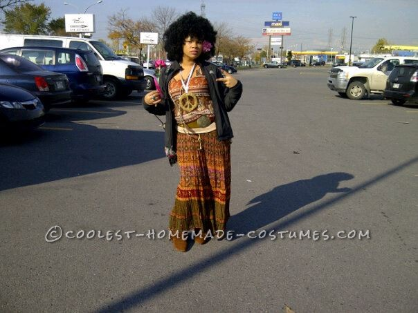 Cool Last-Minute Afro Hippie Costume
