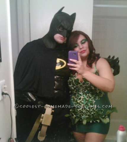 Coolest Homemade Batman, Poison Ivy and Little Robin Family Costume
