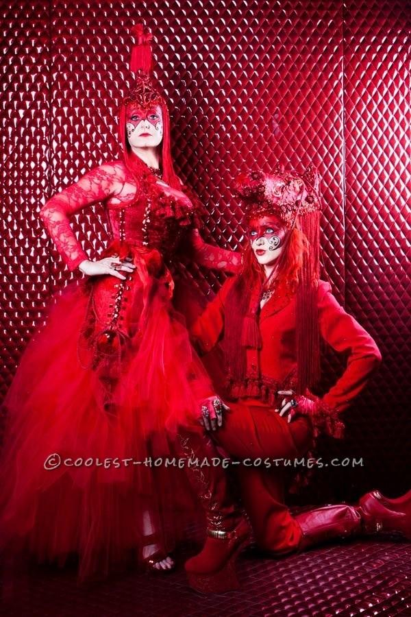 Crimson Contessa and the Pony Couple Costume