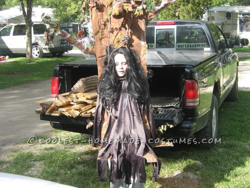Homemade Hanging Witch Costume