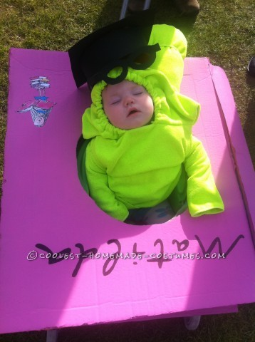 Cutest Homemade Baby Bookworm Costume