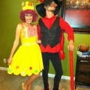 Homemade Couple Costume - Princess Lolly and Lord Licorice from Candyland
