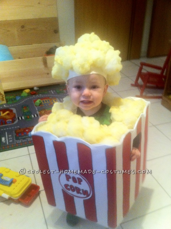 Homemade Toddler Popcorn Costume