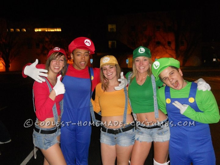 We found men Mario Brothers!