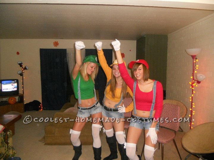 Homemade Sexy Mario Brothers Costume For Women - 2
