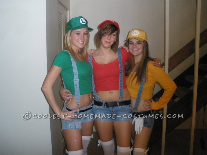 Homemade Sexy Mario Brothers Costume For Women