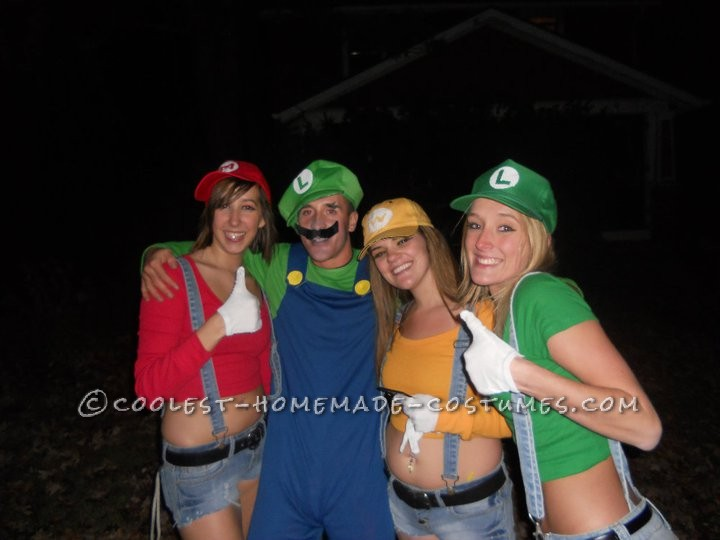 Homemade Sexy Mario Brothers Costume For Women - 3