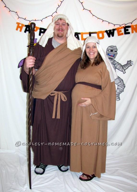 Homemade Mary and Joseph Couple Costume