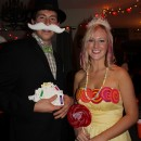 Original Couple Costume Idea: Mr Monopoly and Princess Lolli from Candy Land