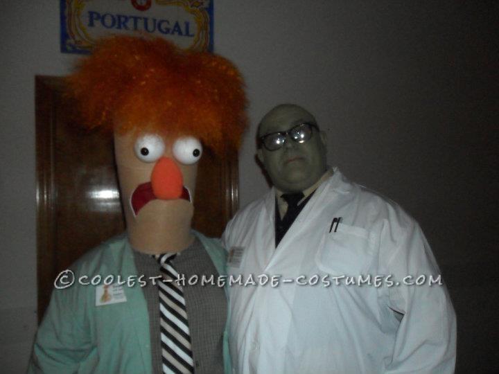 Homemade Beaker and Dr. Bunsen Honeydew Couple Costume - 2