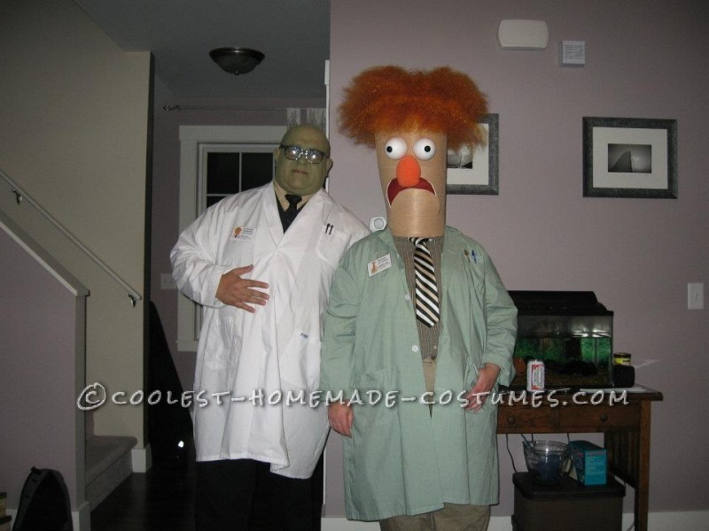 Homemade Beaker and Dr. Bunsen Honeydew Couple Costume