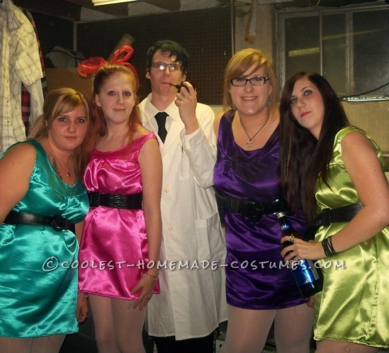 Easy Powerpuff Girls and Professor Group Halloween Costume