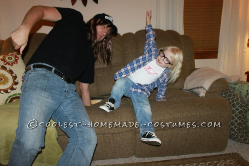 Schwing!! Homemade Wayne and Garth Adult and Kid Costume - 2