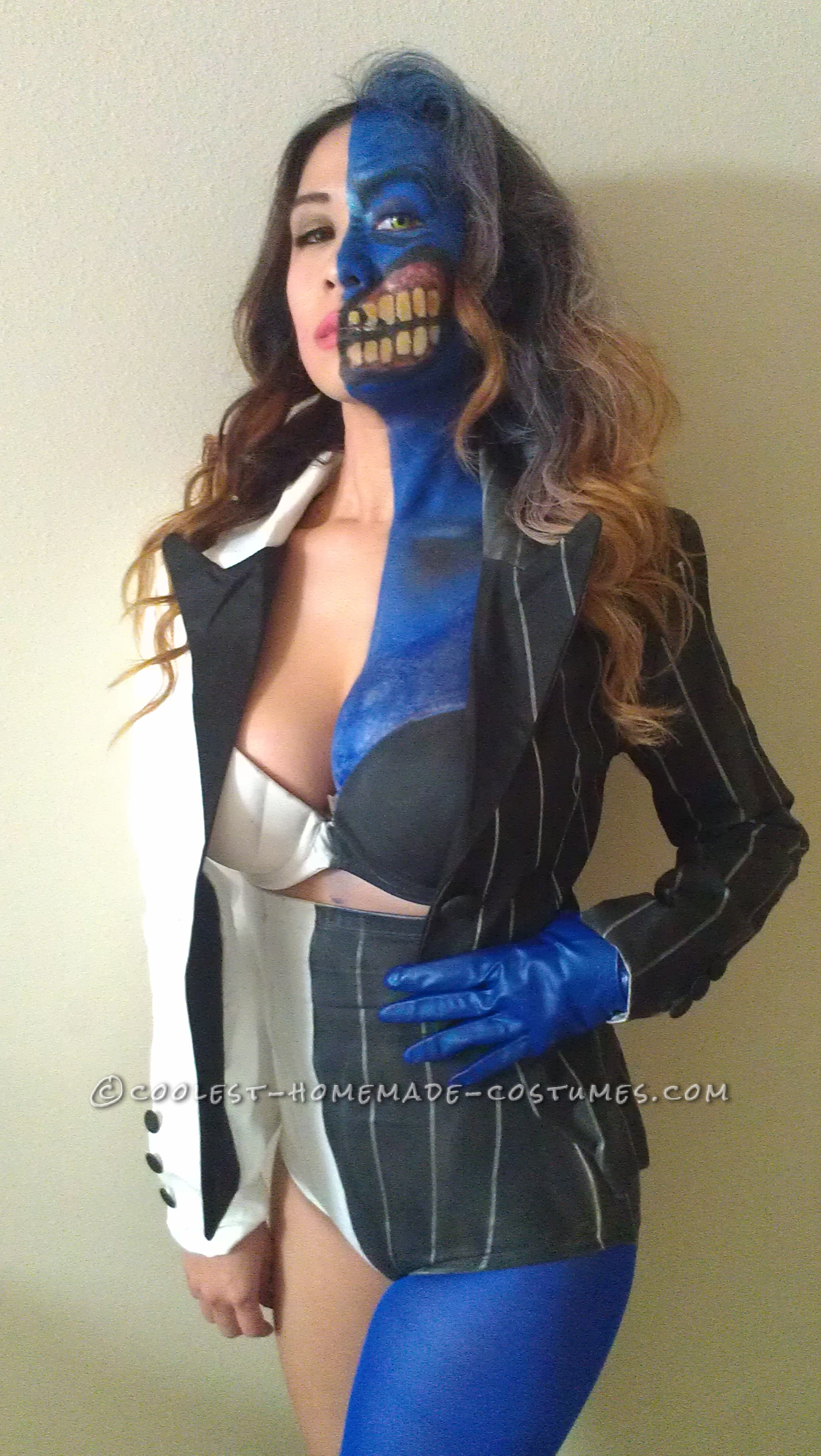 Sexy Homemade Two Face Costume