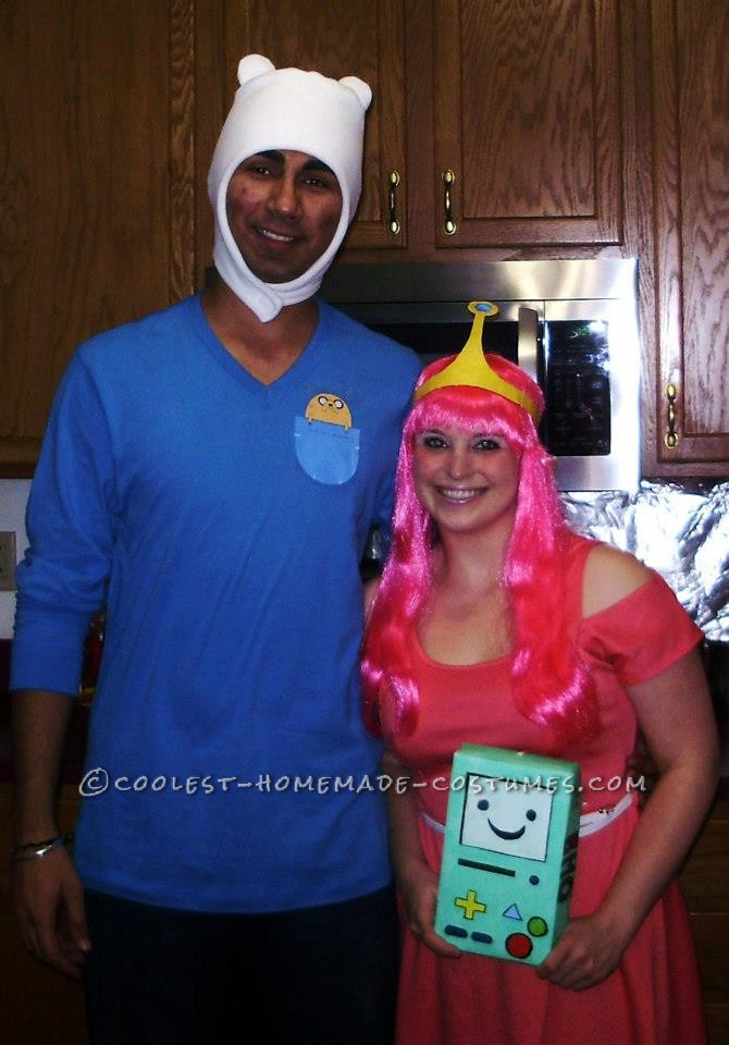 Simple Finn and Princess Bubblegum Couple Costume